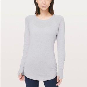 New LULULEMON Hello Aloe Pullover Sweater Gray 6